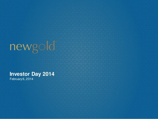 Investor Day 2014 February 6, 2014