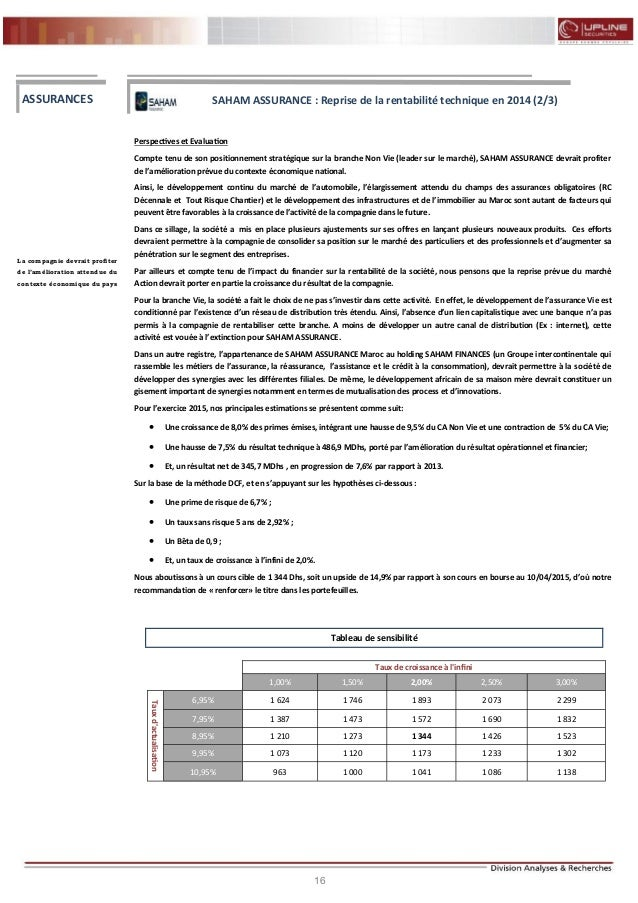 16 FLASH RESULTATS S1-2012 Perspectives et Evaluation Compte tenu de son positionnement stratégique sur la branche Non Vie...