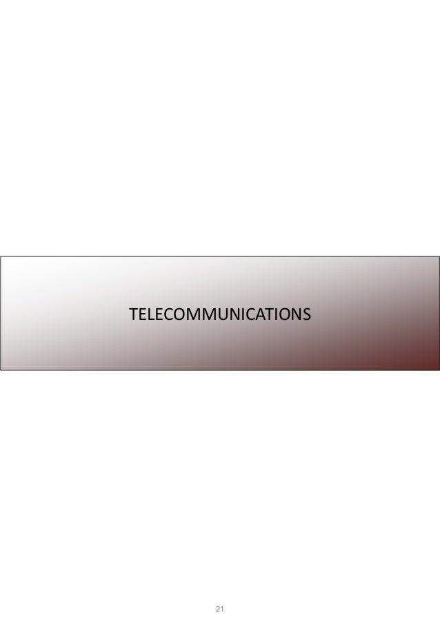 21 TELECOMMUNICATIONS