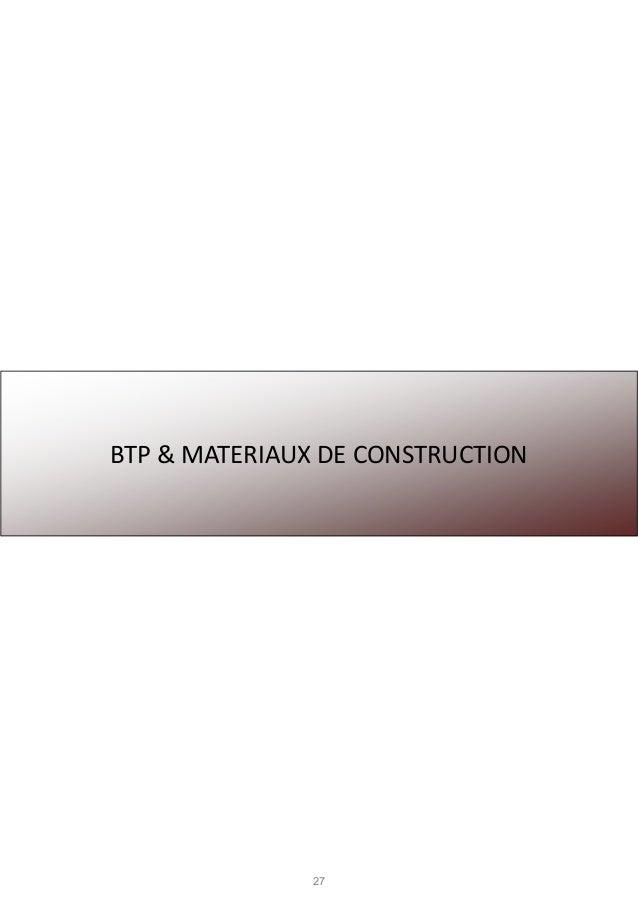 27 BTP & MATERIAUX DE CONSTRUCTION