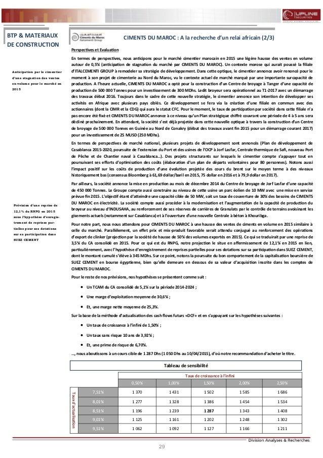 29 FLASH RESULTATS S1-2012 Perspectives et Evaluation En termes de perspectives, nous anticipons pour le marché cimentier ...