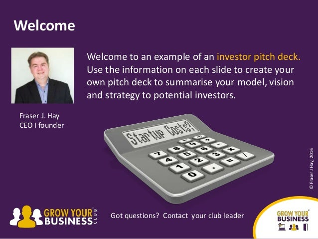 pitching business plan investors business