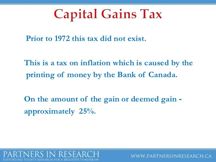 Capital Gains Tax On Property Ontario