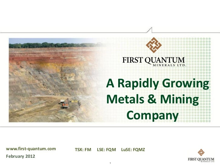 A Rapidly Growing                                     Metals & Mining                                        Companywww.fi...