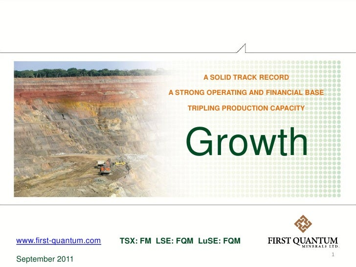 A SOLID TRACK RECORD                                  A STRONG OPERATING AND FINANCIAL BASE                               ...