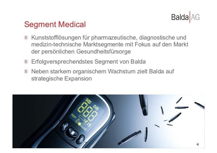Segment Medical         !  Kunststofflösungen für pharmazeutische, diagnostische und             medizin-technische Markt...