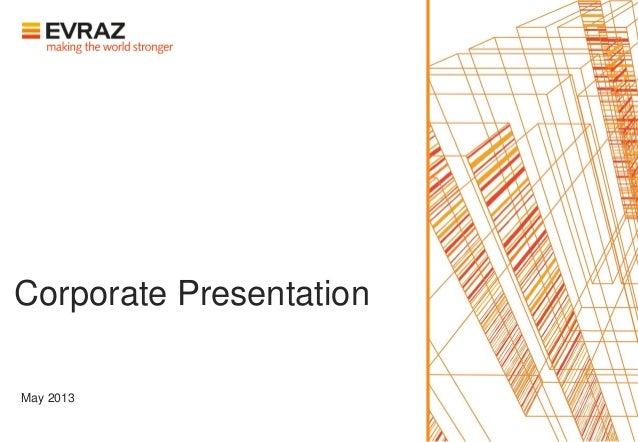 Corporate PresentationMay 2013