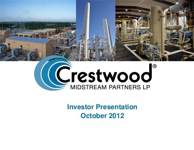 Investor Presentation October 2012