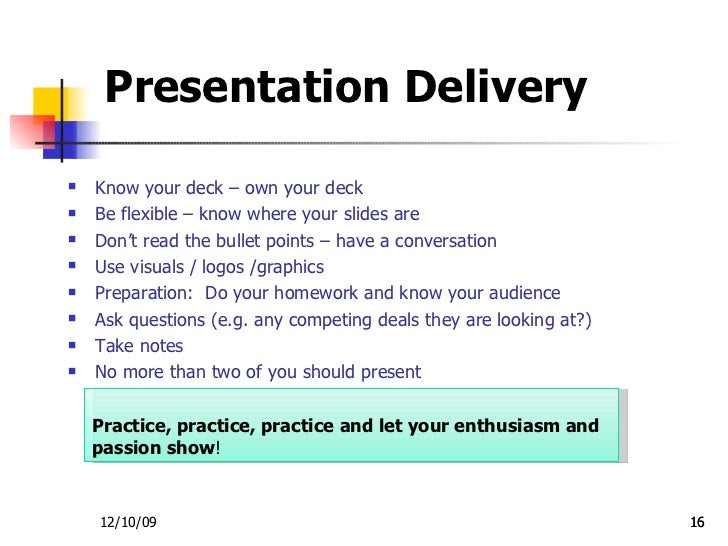 presentation for investors