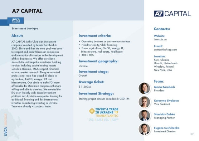 UVCA Investors Book 2017: Who is Who on The Ukrainian Investment Market