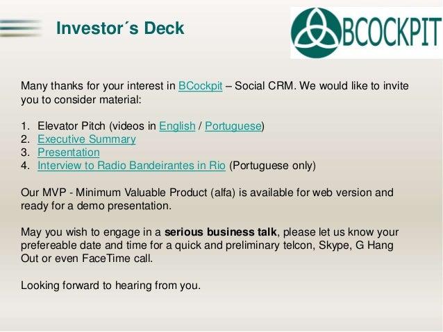 Contact  Octavio Pitaluga Neto (LinkedIN)  BCockpit  Chief Networking Officer  octavio@bcockpit.com  http://www.bcockpit.c...
