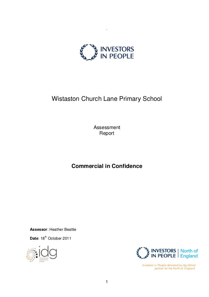 .            Wistaston Church Lane Primary School                                 Assessment                              ...