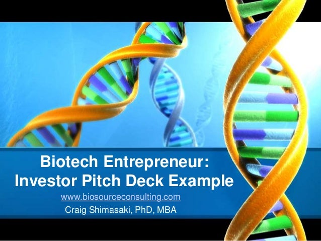 How to Develop a PowerPoint Pitch Deck for Biotech Investor