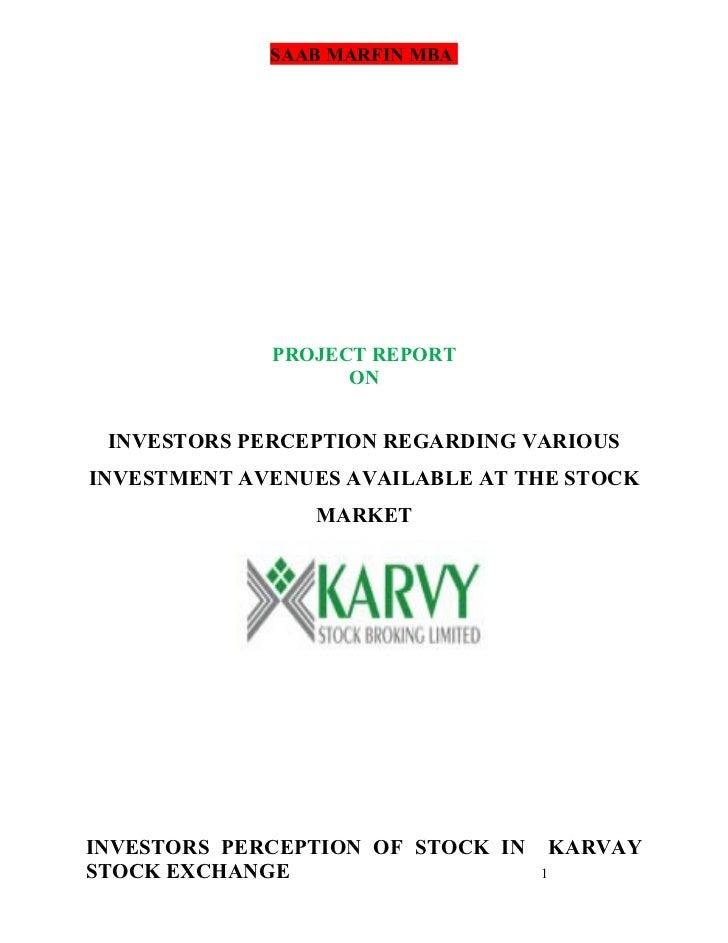 investors perception