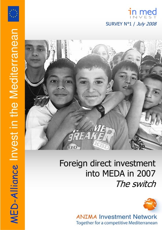 SURVEY N°1 / July 2008 Foreign direct investment into MEDA in 2007 The switch MED-AllianceInvestintheMediterranean
