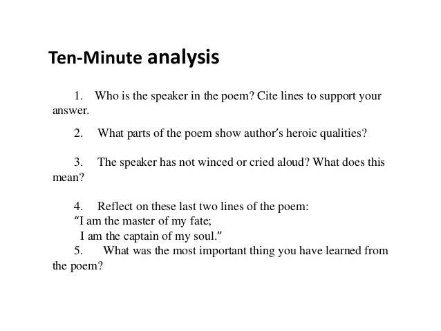 Invictus essay