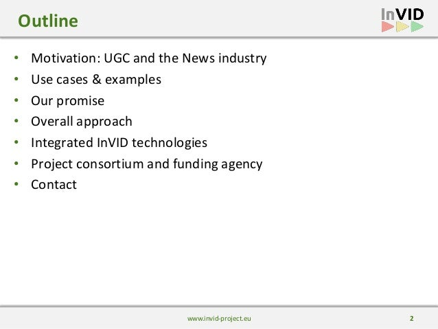 Overview of the InVID project Slide 2