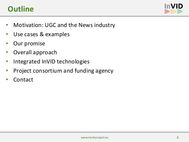Presentation of the InVID project and verification technologies Slide 2