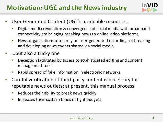 Presentation of the InVID project and verification technologies Slide 3