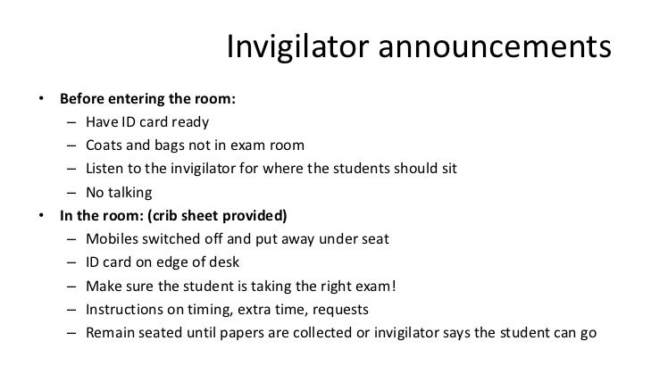 cover letter for ielts invigilator