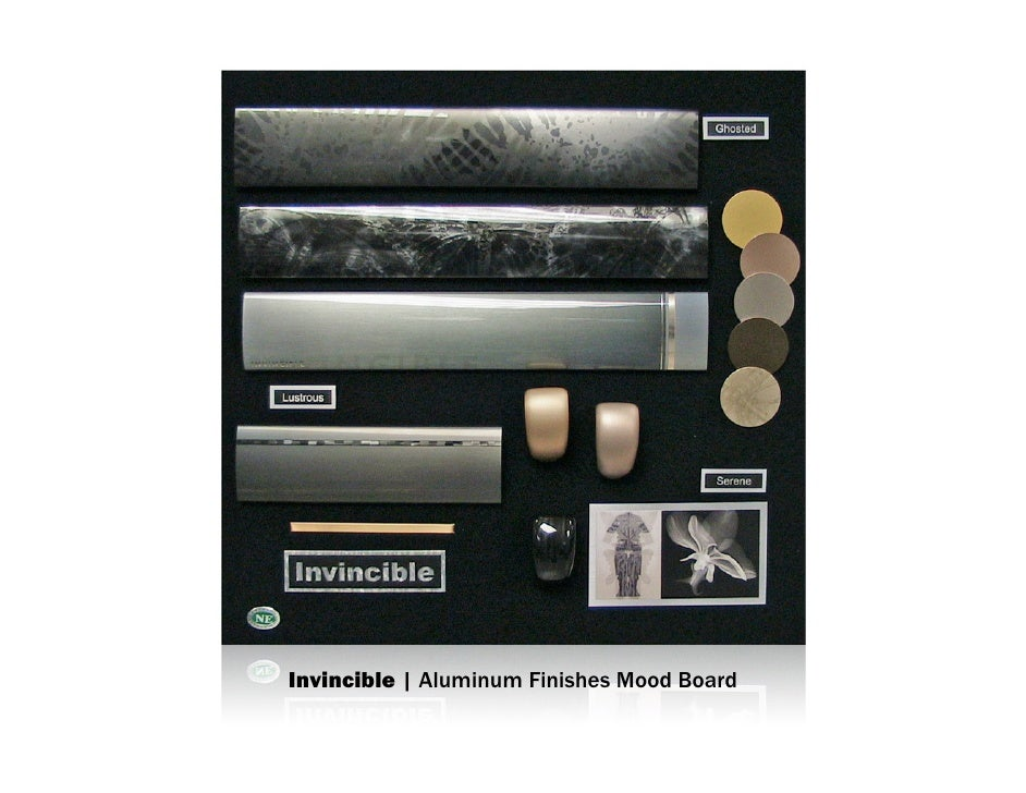 Invincible | Aluminum Finishes Mood Board