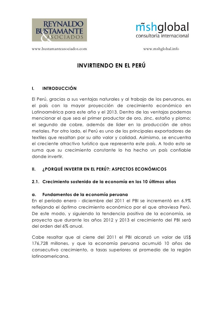 www.bustamanteasociados.com                        www.mshglobal.info                      INVIRTIENDO EN EL PERÚI.    INT...