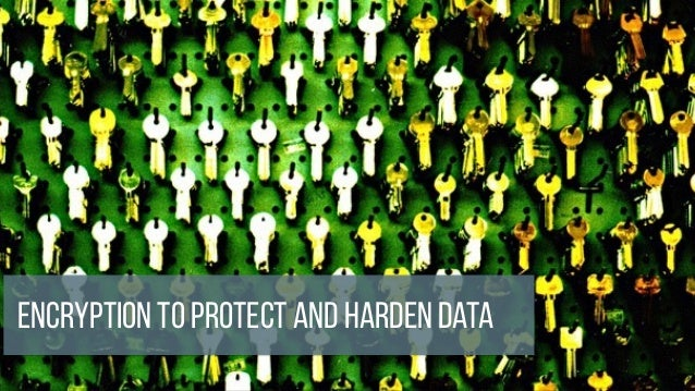 Encryption to protect and harden data