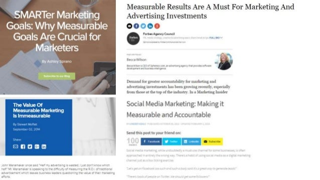 Easiest-to-Measure Channels: 1) Pay-per-click advertising 2) Social media advertising 3) Retargeted/remarketed advertising...