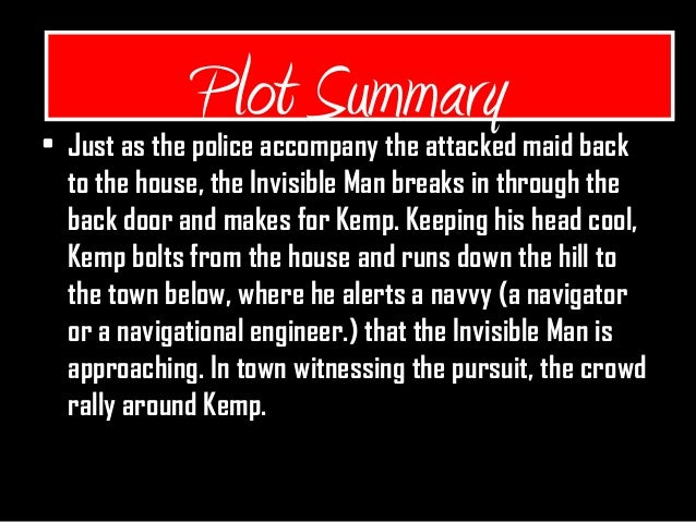 the invisible man short summary hg wells
