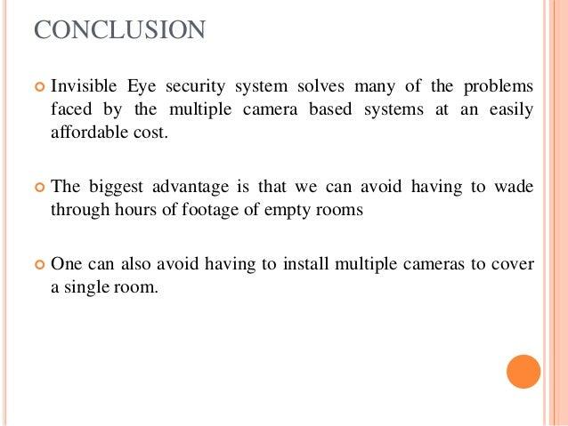 Conclusion of cctv