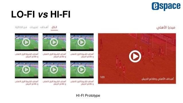 LO-FI vs HI-FI HI-FI Prototype