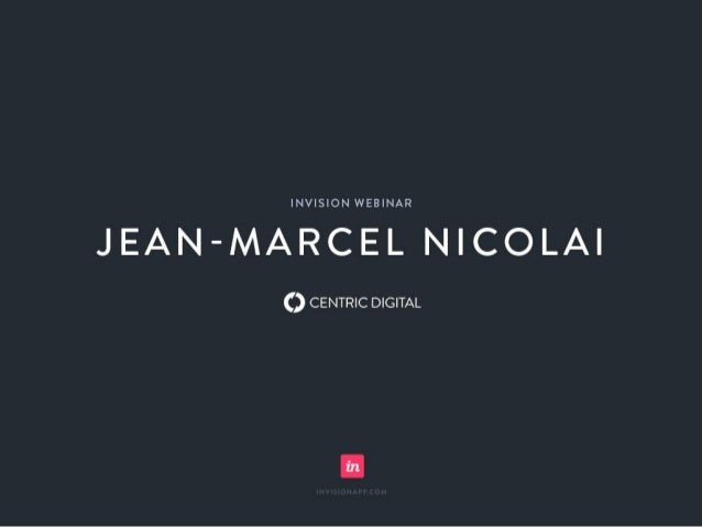 Design for Enterprise Clients Jean-Marcel Nicolai, Chief Product Officer November 2015 We transform traditional businesses...