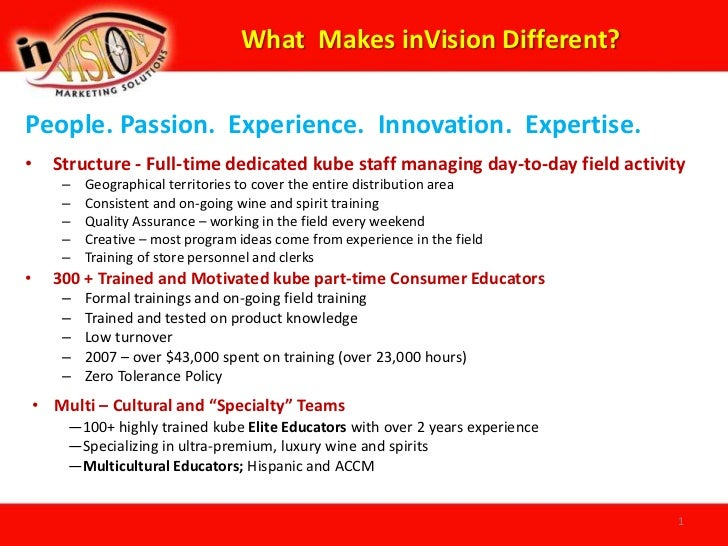 What  Makes inVision Different?<br />People. Passion.  Experience.  Innovation.  Expertise.<br /><ul><li>Structure - Full-...