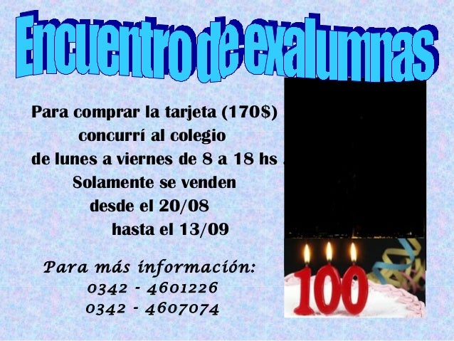 Invitación Exalumnas 2013 1