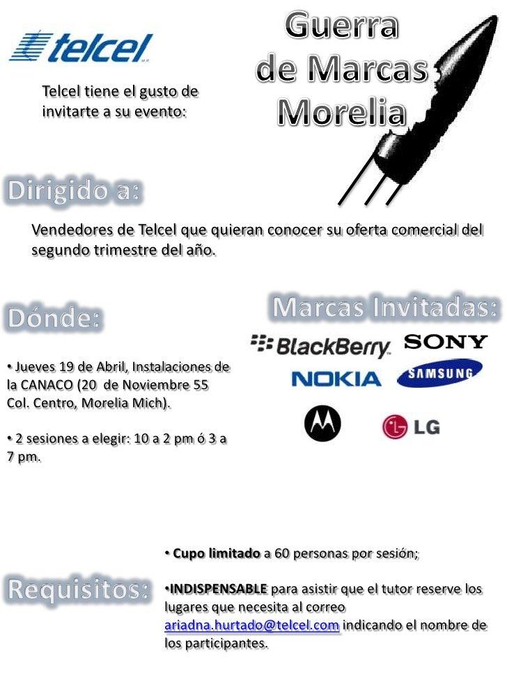 Telcel tiene el gusto de      invitarte a su evento:    Vendedores de Telcel que quieran conocer su oferta comercial del  ...