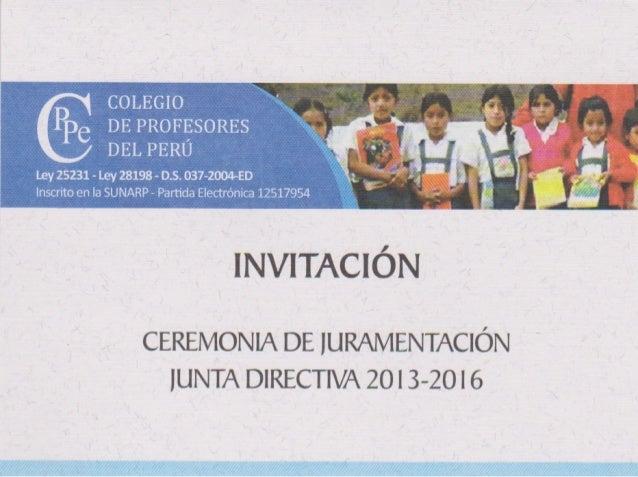 Invitacion Juramentacion Cppe 2013