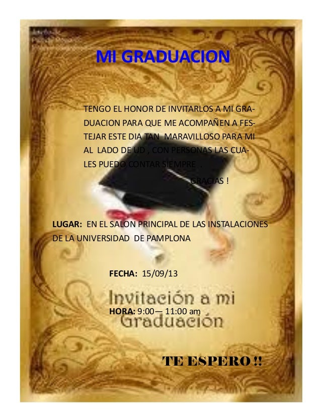 Invitacion a mi graduacion