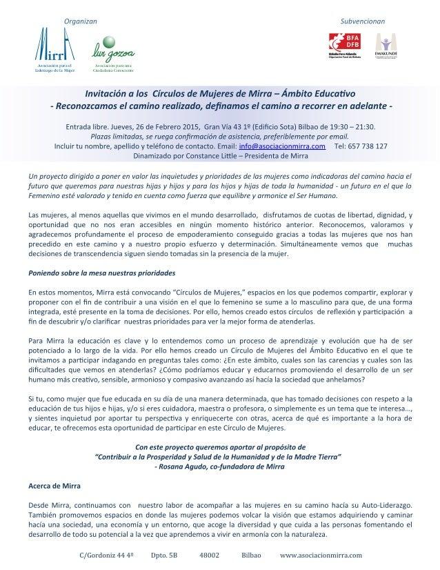 Asociación para el Liderazgo de la Mujer Asociación para una Ciudadanía Consciente