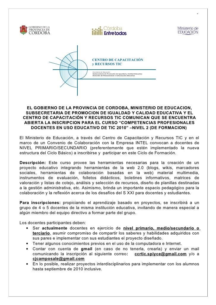 """""""                                           CENTRO DE CAPACITACIÓN                                       y RECURSOS TIC   ..."""