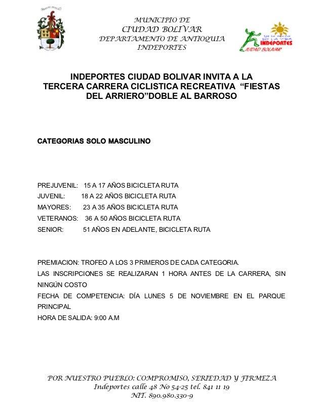 MUNICIPIO DE                           CIUDAD BOLIVAR                 DEPARTAMENTO DE ANTIOQUIA                        IND...