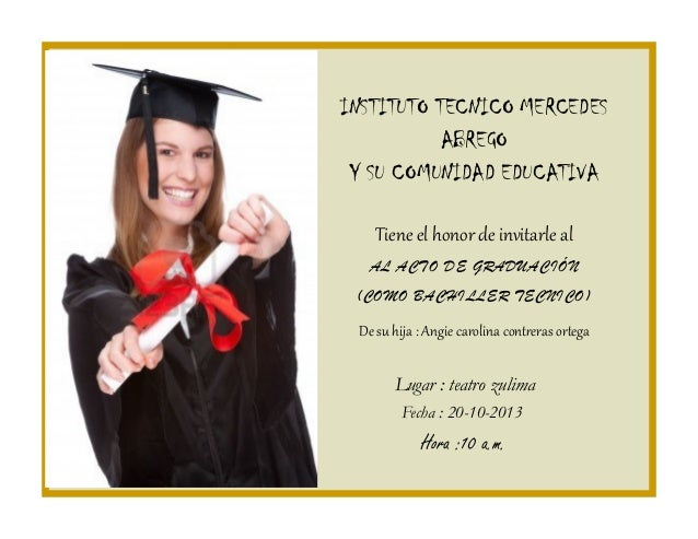 Invitacion Graduacion 11a