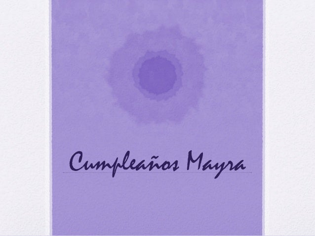 Cumpleaños Mayra