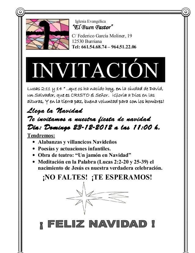 Invitacion navidad iglesia