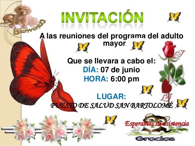 Invitacion Para El Adulto Mayor