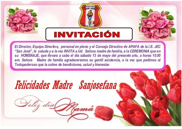 Invitacion DÍa De Las Madres RegiÓn: Invitaciones Del Dia De La Madre