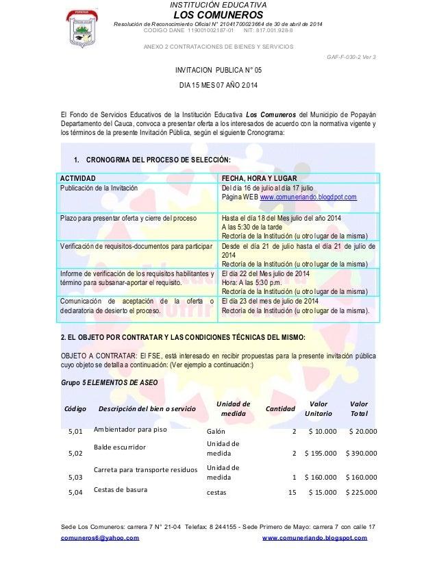INSTITUCIÓN EDUCATIVA LOS COMUNEROS Resolución de Reconocimiento Oficial N° 21041700023664 de 30 de abril de 2014 CODIGO D...