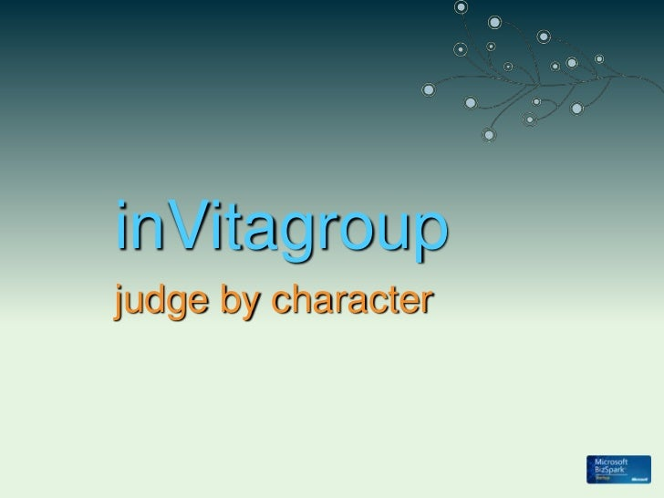 inVitagroup<br />judge by character<br />