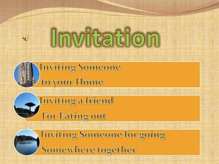 Invitation<br />