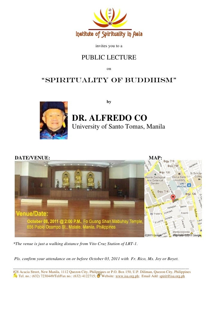 Institute of Spirituality in Asia                                                     invites you to a                    ...