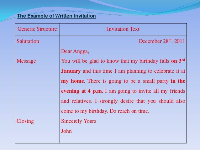 Invitation 8 the example of written invitationgeneric structure invitation stopboris Choice Image
